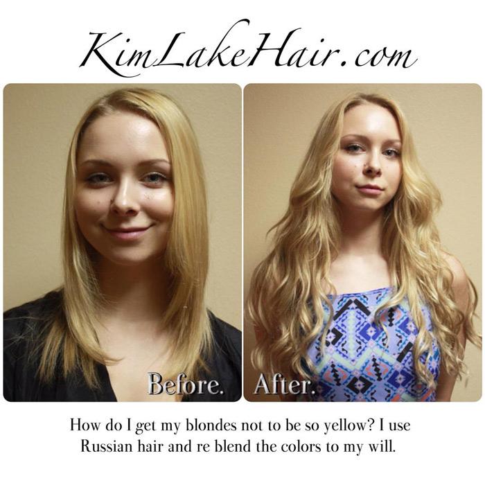 Kim lake hair extension salon custom blends hair extensions hair extensions before and after picture 2 pmusecretfo Choice Image