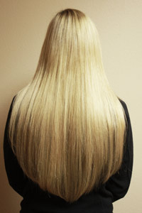 Custom Color blended hair extensions in Tacoma